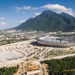 Al pie del Cerro de la Silla: Estadios de estilo  por HARARI LANDSCAPE