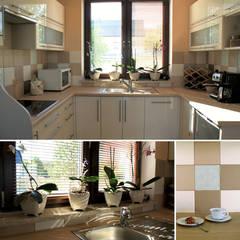 Kitchen in beige: styl , w kategorii Kuchnia zaprojektowany przez Drob Design