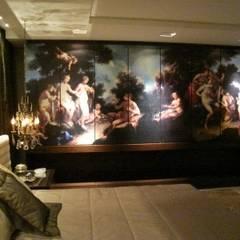 Mostra Casa Nova 2007: Quartos  por ANNA MAYA ARQUITETURA E ARTE,Clássico Madeira Efeito de madeira