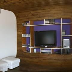 Casa Ecológica I: Salas multimídia  por alexis vinícius arquitetura e design