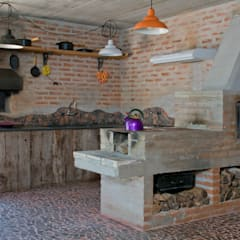 rustic Kitchen by Carlos Bratke Arquiteto