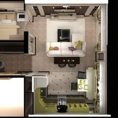 Дизайн 1-комнатной квартиры: Гостиная в . Автор – Дизайн студия Жанны Ращупкиной