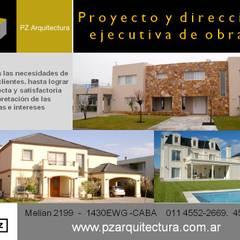 Modern houses by Grupo PZ Modern