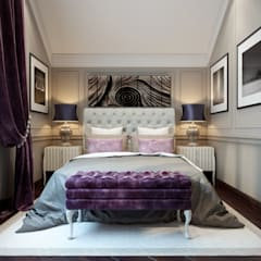 Таунхаус в г.Краснодар: Спальни в . Автор – Design Studio Details, Эклектичный