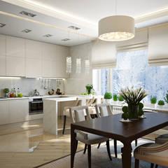 Таунхаус в г.Краснодар: Кухни в . Автор – Design Studio Details, Эклектичный