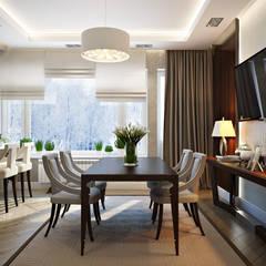 Таунхаус в г.Краснодар: Столовые комнаты в . Автор – Design Studio Details, Эклектичный