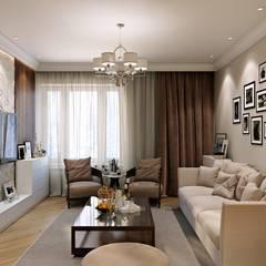 Таунхаус в г.Краснодар: Гостиная в . Автор – Design Studio Details, Эклектичный