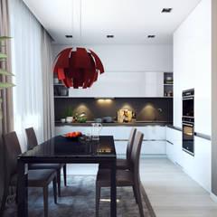 Трехкомнатная квартра в г.Новосибирск: Кухни в . Автор – Design Studio Details