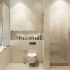 Трехкомнатная квартра в г.Новосибирск: Ванные комнаты в . Автор – Design Studio Details