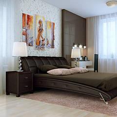 Интерьер с характером: Спальни в . Автор – студия дизайна 'Крендель'