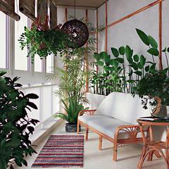 Интерьер с характером: Зимние сады в . Автор – студия дизайна 'Крендель'