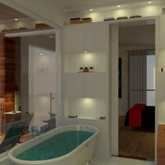 Casa em Poços de Caldas: Banheiros  por Futura Arquitetos Associados