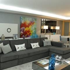 PROJECTO 3 Salas de estar clássicas por Grupo HC Clássico