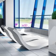 Beton architektoniczny w przestrzeni publicznej: styl , w kategorii Lotniska zaprojektowany przez Modern Line,