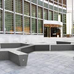 Beton architektoniczny w przestrzeni publicznej: styl , w kategorii Centra handlowe zaprojektowany przez Modern Line