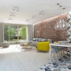 Nowoczesny vintage: styl , w kategorii Salon zaprojektowany przez UTOO-Pracownia Architektury Wnętrz i Krajobrazu