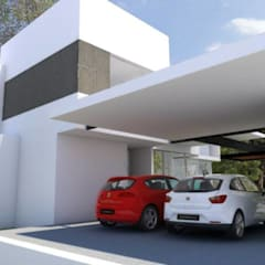 Double Garage by SANTIAGO PARDO ARQUITECTO
