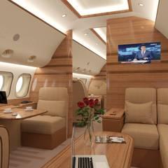 3д-визуализация и дизайн-проект самолета: Аэропорты и морские порты в . Автор – Антон Булеков