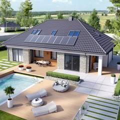 PROJEKT DOMU MAGNUS II G2: styl , w kategorii Domy zaprojektowany przez Pracownia Projektowa ARCHIPELAG,