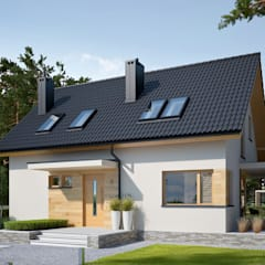 PROJEKT DOMU LILA ECONOMIC : styl , w kategorii Domy zaprojektowany przez Pracownia Projektowa ARCHIPELAG