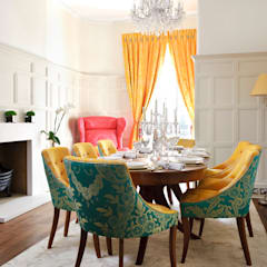 Montagu Square:  Dining room by Rebecca James Studio