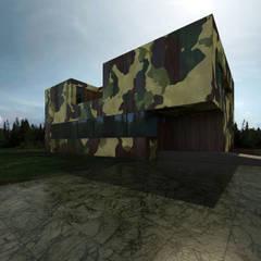 Camouflage house: Дома в . Автор – ALEXANDER ZHIDKOV ARCHITECT, Минимализм