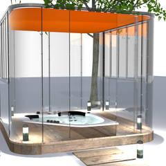 un spa dans votre jardin : Spa de style de style Moderne par Tabary Le Lay