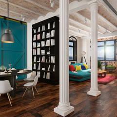 Эксклюзивный дизайн-проект дома в стиле эклектика: Столовые комнаты в . Автор – GM-interior