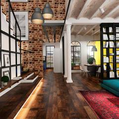 Эксклюзивный дизайн-проект дома в стиле эклектика: Коридор и прихожая в . Автор – GM-interior