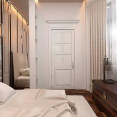 Эксклюзивный дизайн-проект дома в стиле эклектика: Спальни в . Автор – GM-interior, Эклектичный