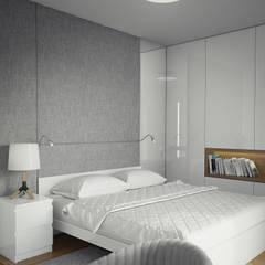 PROJEKT WNĘTRZ DOMU JEDNORODZINNEGO: styl , w kategorii Sypialnia zaprojektowany przez Kunkiewicz Architekci