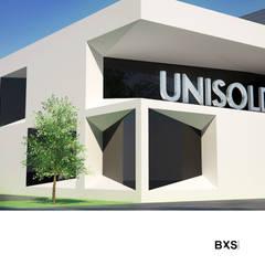 UNISOLDA: Escritórios e Espaços de trabalho  por BXS arquitectos,Industrial