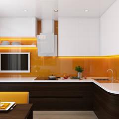 Kitchen by студия визуализации и дизайна интерьера '3dm2'