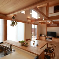陽ごこちの家  群馬県 高崎市: 田村建築設計工房が手掛けたダイニングです。