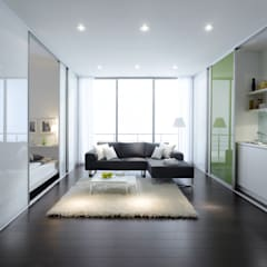 ​Studio Flat Room Divider Sliding Doors by Bravo London.:  Walls by Bravo London Ltd