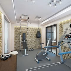 Gimnasios en casa de estilo  por Design studio of Stanislav Orekhov. ARCHITECTURE / INTERIOR DESIGN / VISUALIZATION.