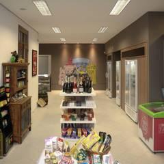 Mucho Gusto Mercado: Adegas rústicas por Cris Manzolli  Arquiteta