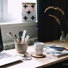 Квартира в скандинавском стиле: Рабочие кабинеты в . Автор – ИНТЕРЬЕР-ПРОЕКТ.РУ