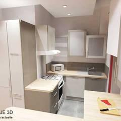 3D cuisine projet: Cuisine de style  par Pauline VIDAL - Architecte d'Intérieur CFAI