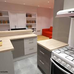 3D cuisine: Cuisine de style  par Pauline VIDAL - Architecte d'Intérieur CFAI