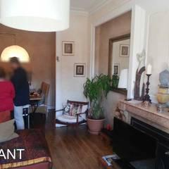Rénovation d'un appartement de 75 m2 à Tassin: Salon de style  par Pauline VIDAL - Architecte d'Intérieur CFAI
