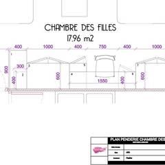 Rénovation d'un appartement de 75 m2 à Tassin: Chambre d'enfant de style  par Pauline VIDAL - Architecte d'Intérieur CFAI