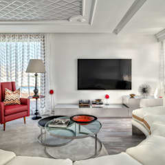 City Exquisite: Salas multimédia  por Viterbo Interior design