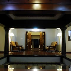 Krishnakumar Residence:  Terrace by dd Architects