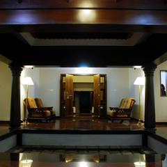 Krishnakumar Residence Interiors:  Terrace by dd Architects,