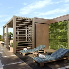 Chelsea Creek London Penthouse Roof Terrace (St George PLC) من Aralia حداثي خشب Wood effect