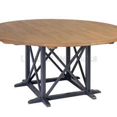 Обеденный стол Country Cross Dining Table T010:  в . Автор – LeHome Interiors, Кантри Дерево Эффект древесины