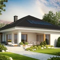 PROJEKT DOMU LIV 3 G2 : styl , w kategorii Domy zaprojektowany przez Pracownia Projektowa ARCHIPELAG,