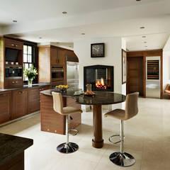Grosvenor | Luxury American Walnut Kitchen Cocinas modernas de Davonport Moderno Madera Acabado en madera