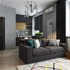 Квартира-студия для молодой пары: Гостиная в . Автор – Solo Design Studio,